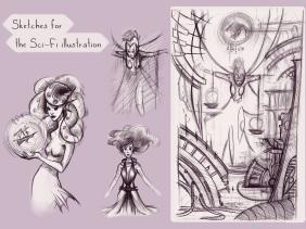 sketch sci fi